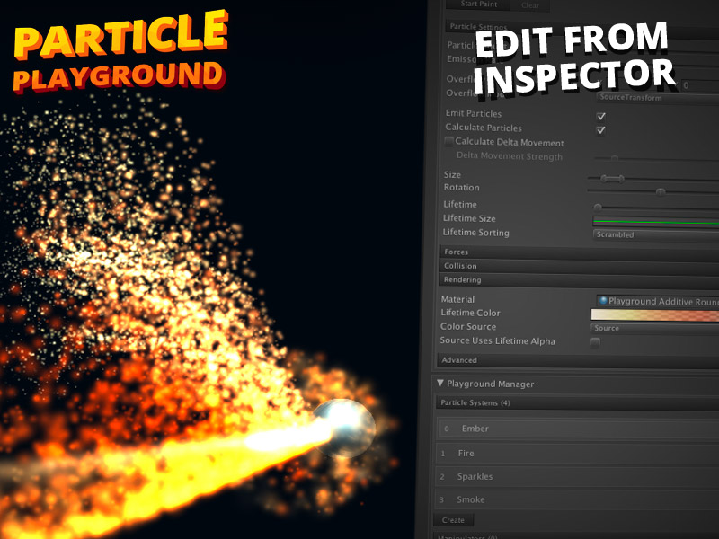 how to make a particle system in unity